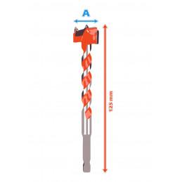 Set van 5 gatenzagen (forstner, 16-25 mm, zeskantschacht)  - 2
