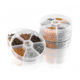 Set mini screw eyes (900 pieces, 4x8 mm, different colors, in