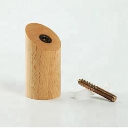 Lot de 6 patères en bois, hêtre  - 2
