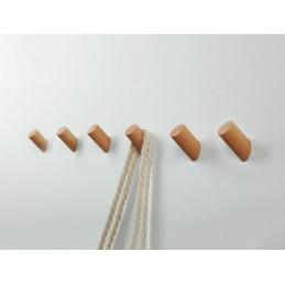 Set of 6 wooden clothes hooks, beech  - 1