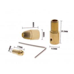 Mini spantang adapter, boorhouder (0.5-3.0 mm)