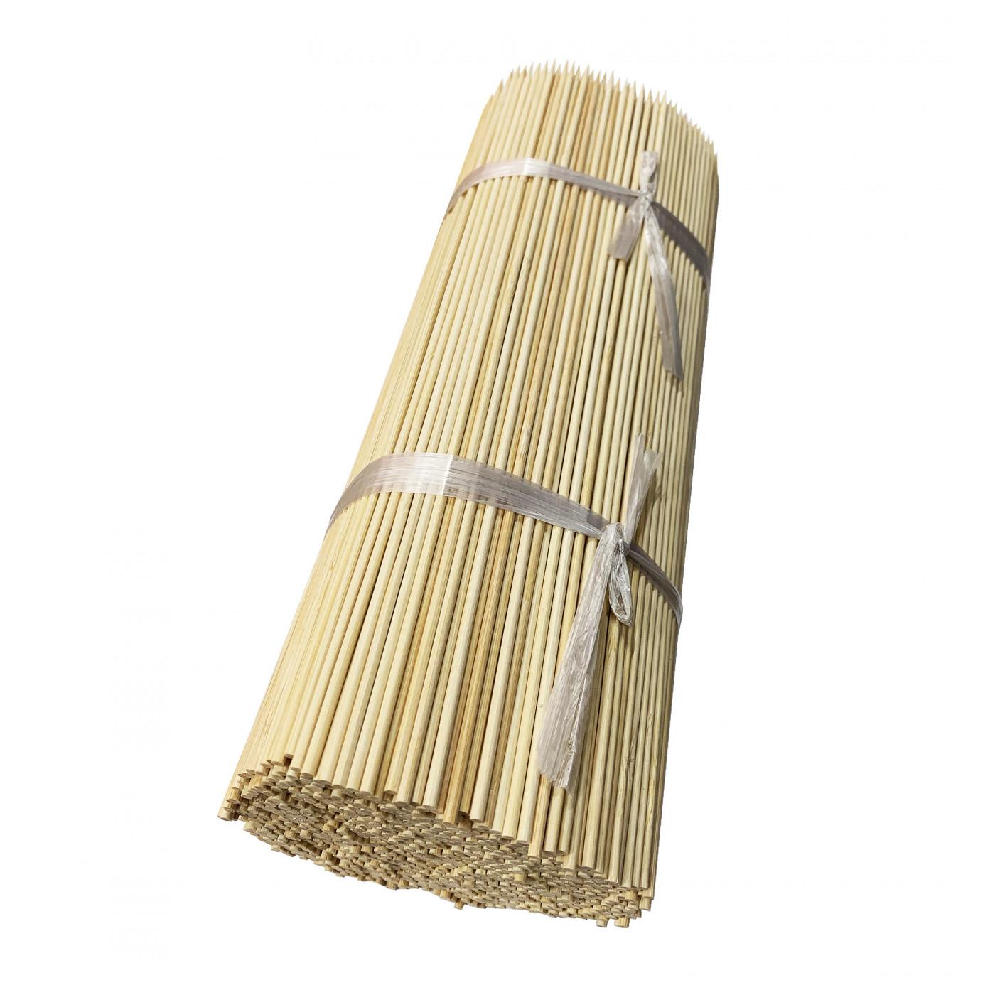 Lot de 500 bâtons de bambou (5 mm x 40 cm)  - 1