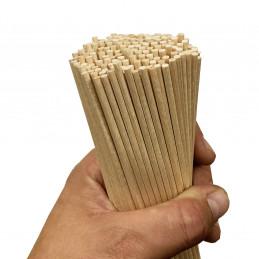 Set van 200 houten stokjes (4 mm x 30 cm, berkenhout)