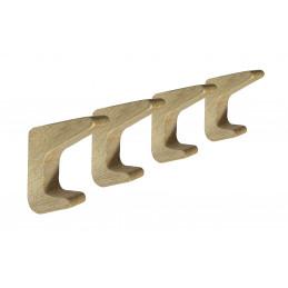 Set mit 4 einfachen Kleiderhaken aus Holz (Eiche)