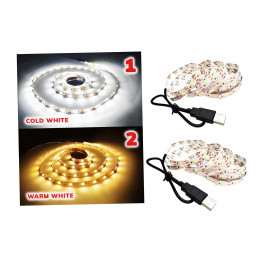 USB LED strip (2 meters), warm white
