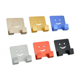 Set of 6 bathroom hooks for children (smiley)  - 1