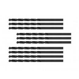 Jeu de 10 forets à métaux (HSS-R, 4.0x75 mm)