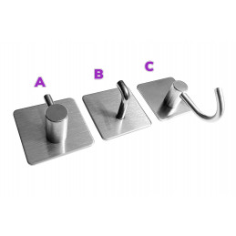 Set of 5 strong hangers for kitchen and bathroom (model B)  - 3