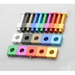 Set van 10 kleurrijke kledinghaken (oranje, vierkant, aluminium)