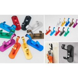 Clothes hook (aluminum, stainless, screw-less, green)