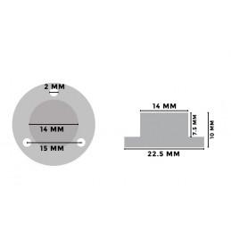 Conjunto de 5 niveles de burbuja redondos con carcasa metálica  - 2