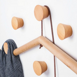 Wooden clothes hook, beech (1 piece of type 1)  - 1
