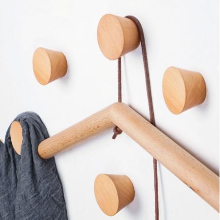 Wooden clothes hook, beech (1 piece of type 1)