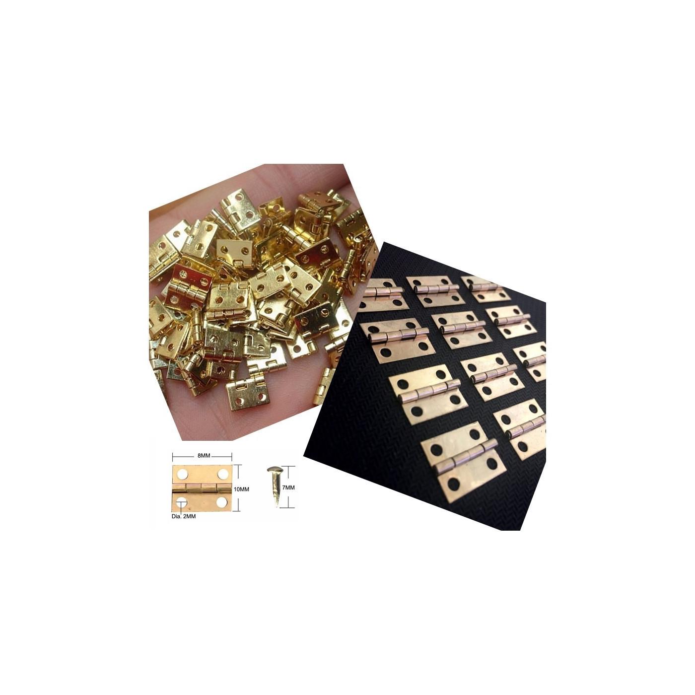 Set di mini cerniere in rame da 100 pezzi