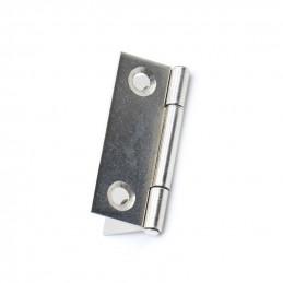 Zestaw 20 małych zawiasów w kolorze srebrnym (27x38 mm)  - 1