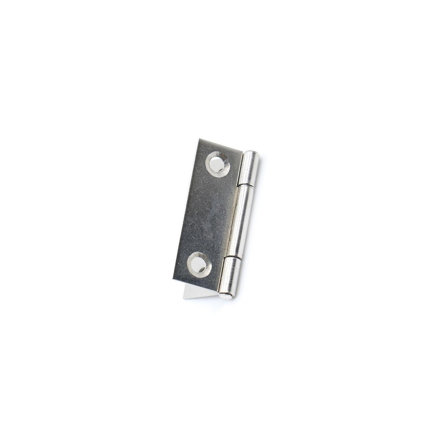 Conjunto de 20 bisagras pequeñas, color plata (27x38 mm)  - 1