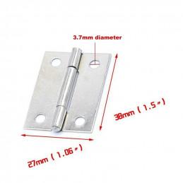 Conjunto de 20 dobradiças pequenas, cor prata (27x38 mm)  - 2