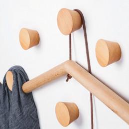 Drewniany wieszak na ubrania, orzech (1 sztuka typu 2)  - 2