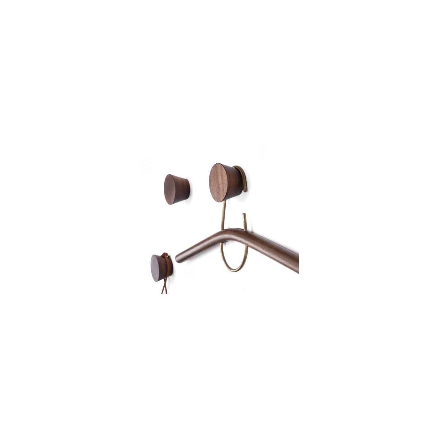 Gancho de ropa de madera, nogal (1 pieza de tipo 2)  - 1