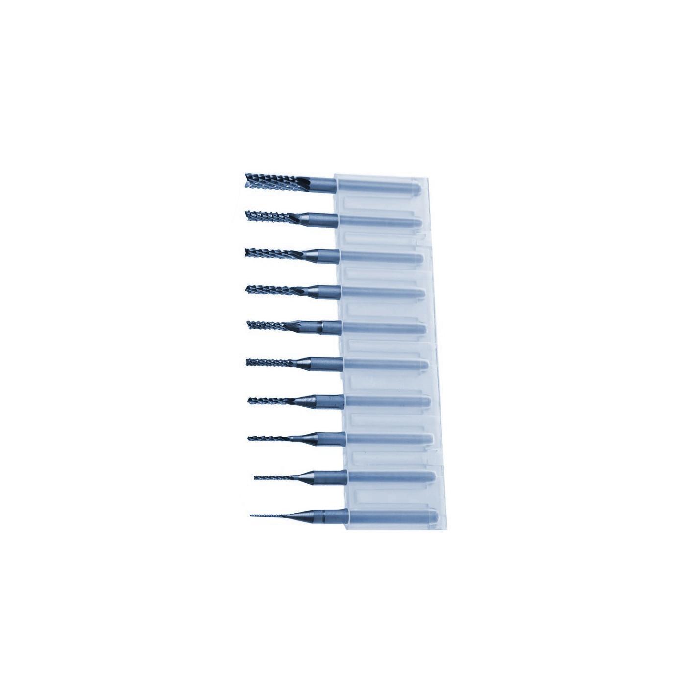 Micro HQ frezen set in box (0.8-3.175 mm)  - 1