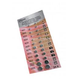 Set Knopfzellenbatterien (große Packung)  - 1