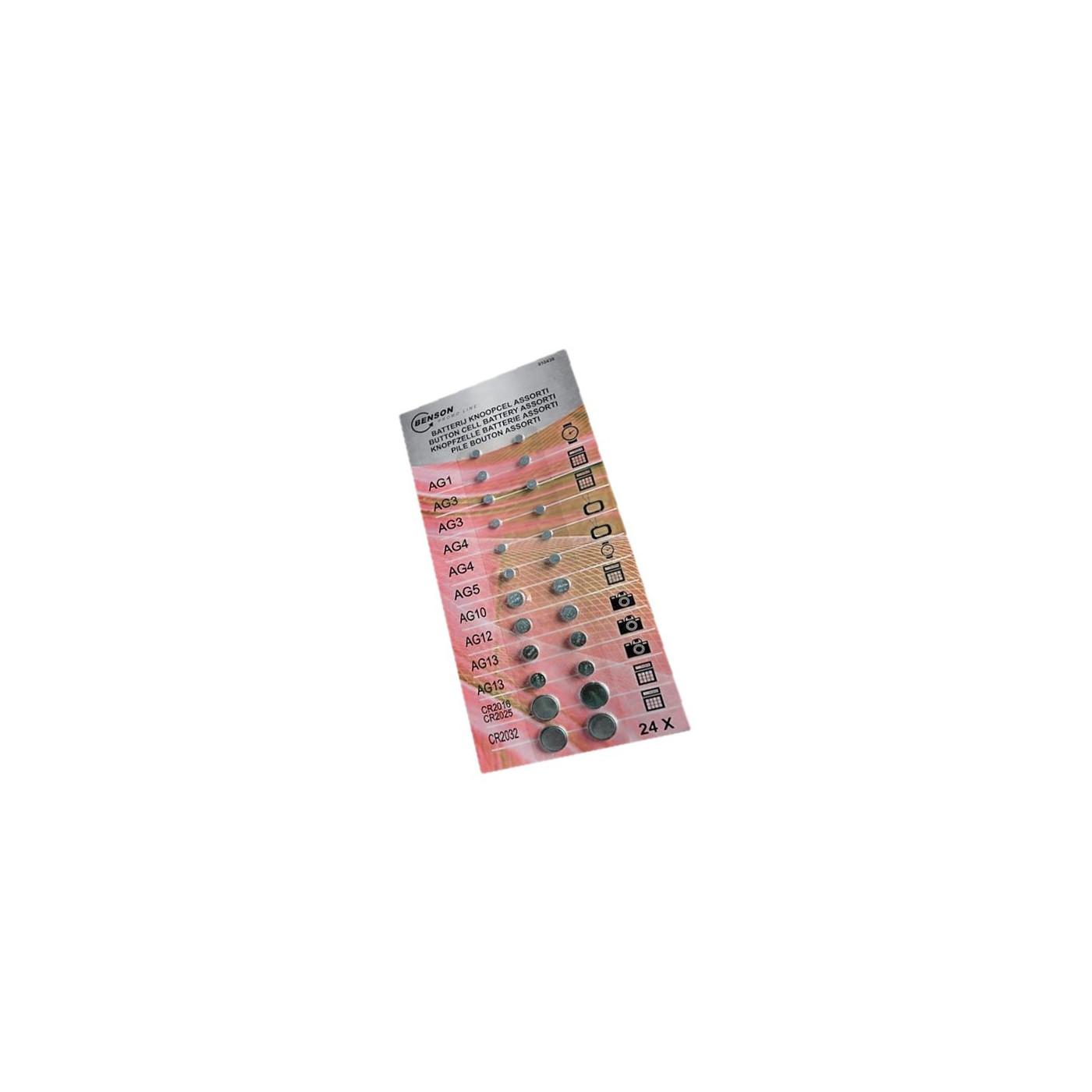 Set Knopfzellenbatterien (große Packung)