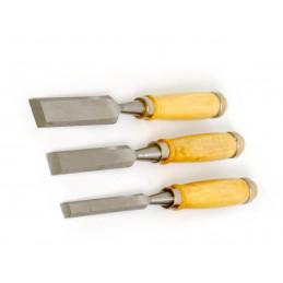 Set Meißel für Holz: 12, 18 und 24 mm Durchmesser