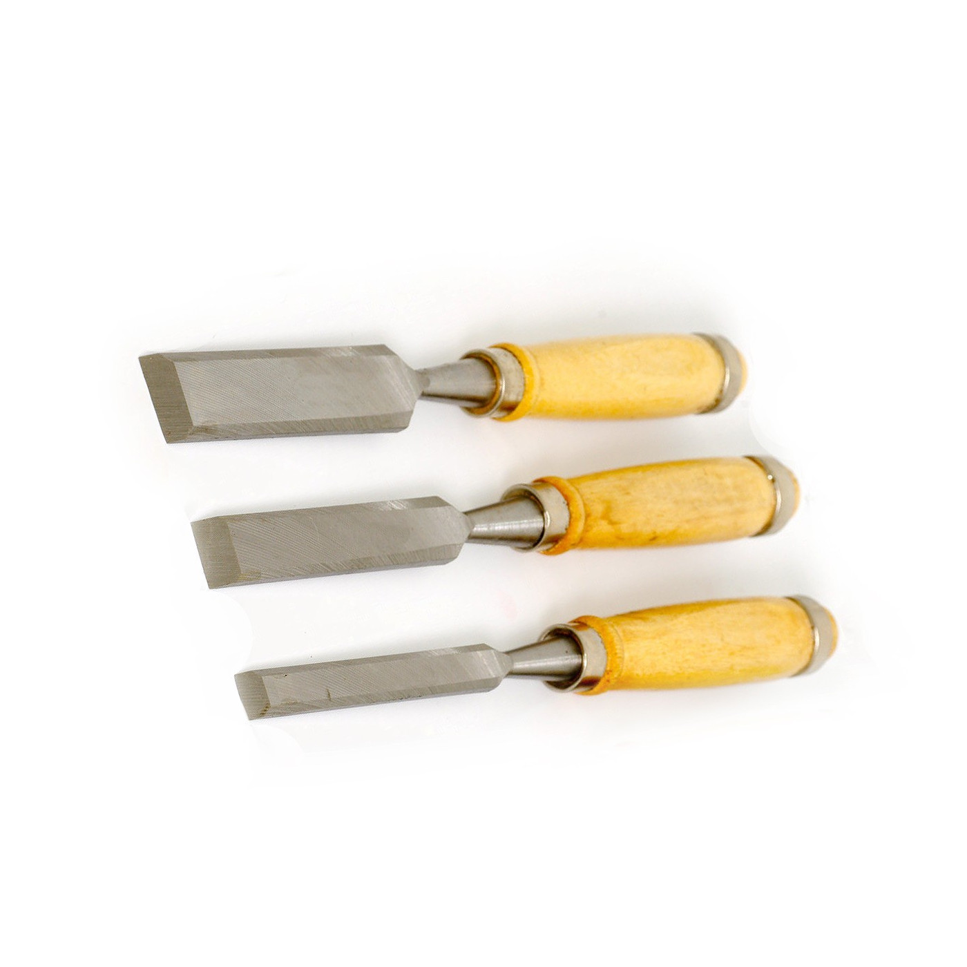 Set chisels for wood: 12mm, 18mm, 24mm