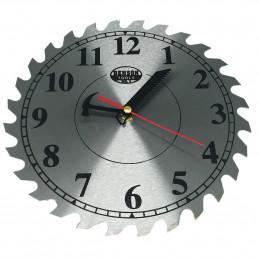 Reloj de pared para hombre, sierra circular de 25 cm.  - 1