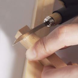 Piccola sega a mano a forma di penna con 2 lame