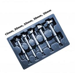 Juego de brocas Forstner (5 piezas) para perforar agujeros  - 1