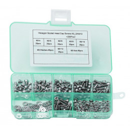 Set M3 bolts, nuts and washers, 250 pcs  - 1