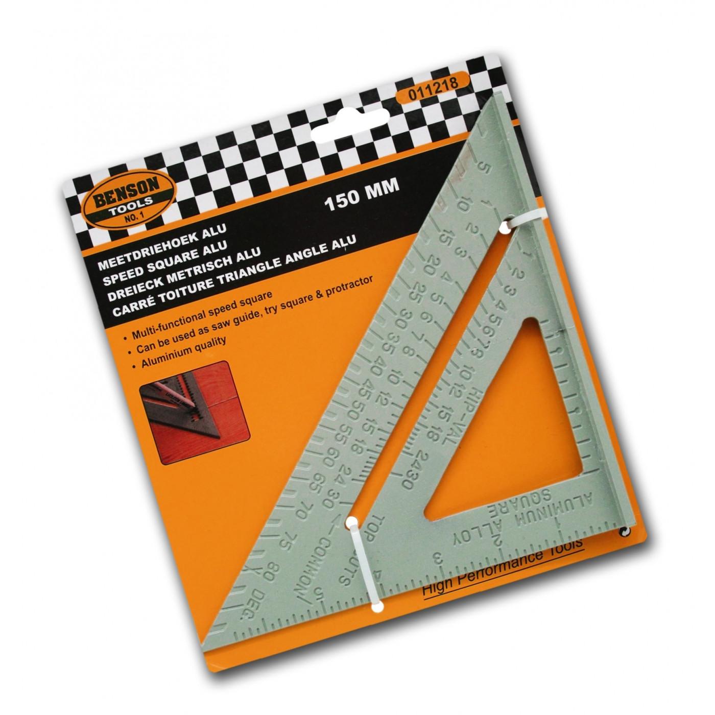 Solidny trójkąt geo i pręt pomiarowy (aluminium), 150 mm  - 1