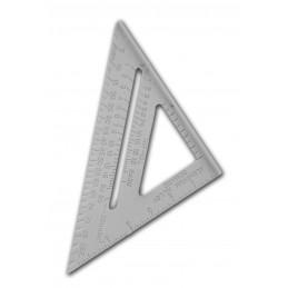 Stevige geodriehoek en meetlat (inches), 150 mm