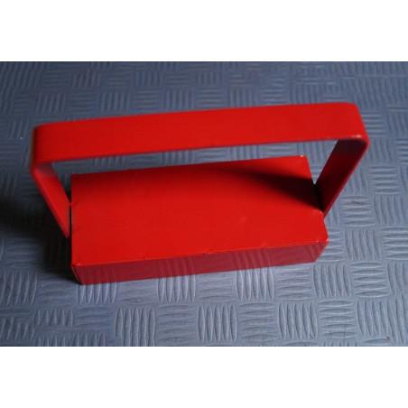 Magneethaak / haakmagneet rood XL, met grip
