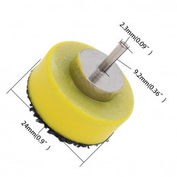 25 mm wide abrasive disc holder (hook and loop)  - 1