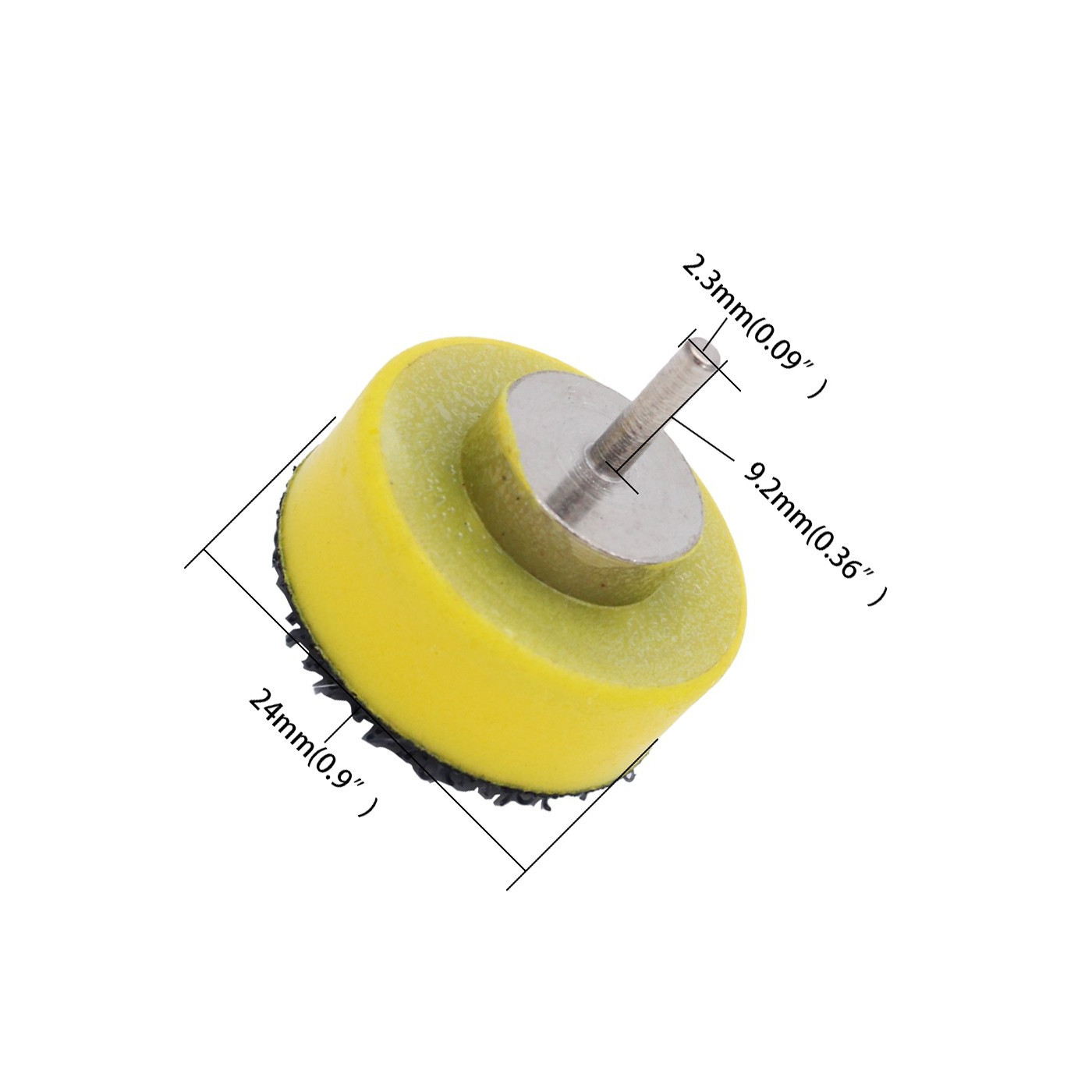 25 mm wide abrasive disc holder (hook and loop)