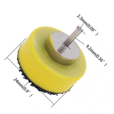 Porta disco abrasivo largo 25 mm (a strappo)