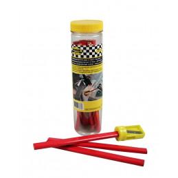 Set lápices de carpintero (11 piezas) más sacapuntas  - 1