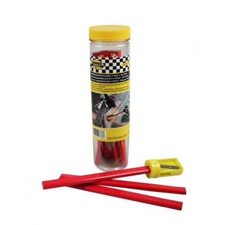 Conjunto de lápis de carpinteiros (11 peças) mais apontador  - 1