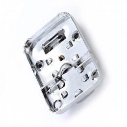 Kofferslot, kistslot zilverkleurig, 32x48 mm