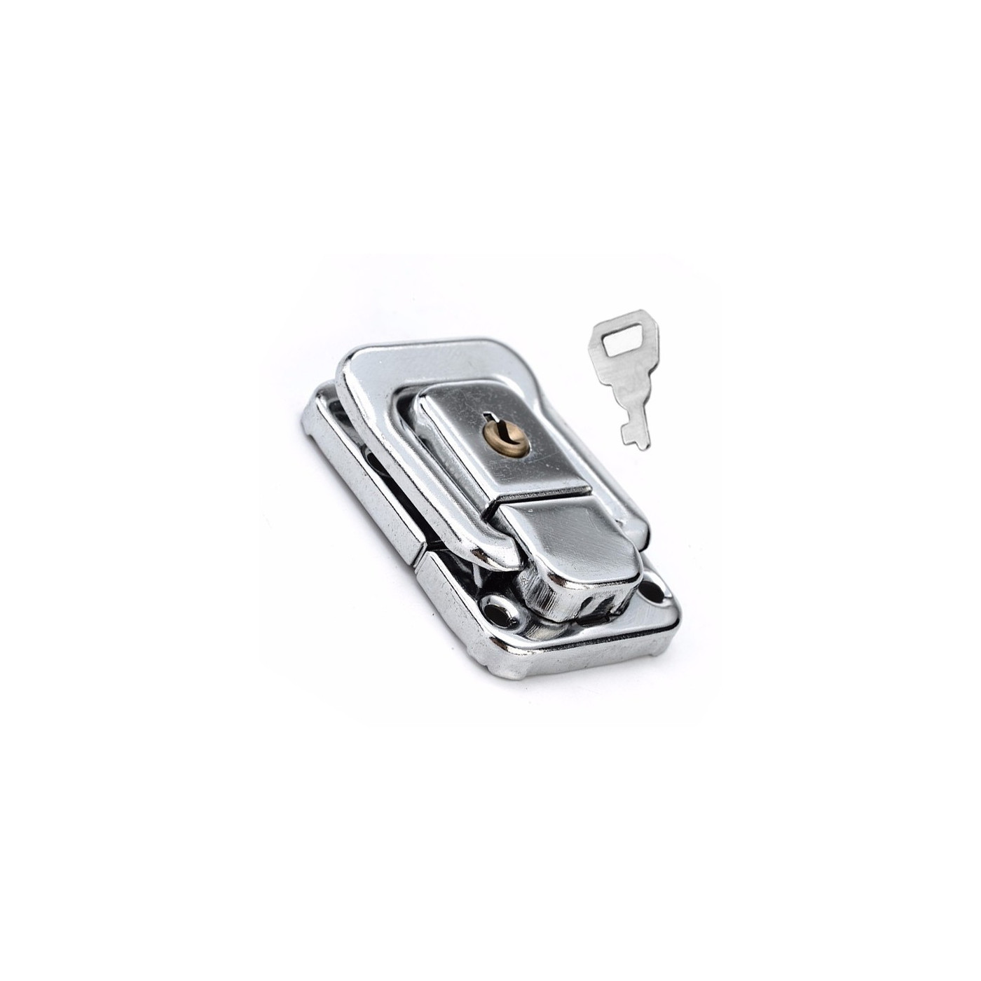 Chest latch, lock set, silver color, 32x48 mm  - 1