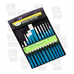 Set center punches, drift punches and chisels (12 pcs)