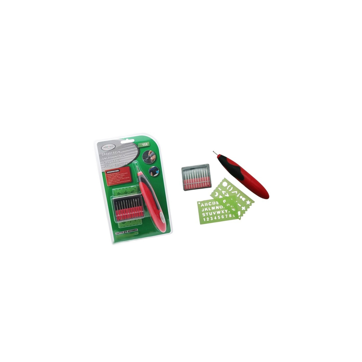 Graveerpen op batterijen, inclusief freesjes