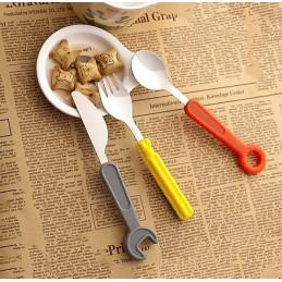 Conjunto de talheres de ferramentas para crianças (garfo, faca, colher)  - 2