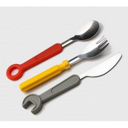 Juego de cubiertos para niños (tenedor, cuchillo, cuchara)  - 1