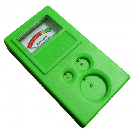 Battery tester for coin cell batteries