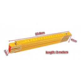 Duimstok hout, opvouwbaar, 2 meter  - 2
