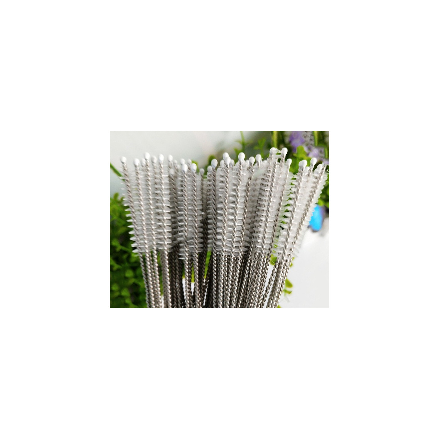 Long set of stainless steel brushes for cleaning (20 pcs)