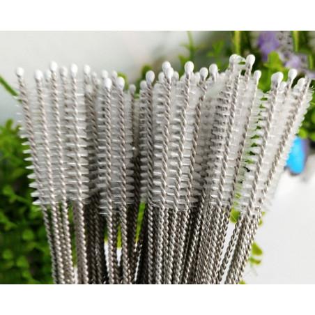 Long set de brosses en acier inoxydable pour le nettoyage (40
